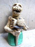 アギラールファミリー  陶人形  [杖をつくカラベリータ]  ビンテージ