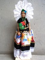 メキシコ バービー 人形 [オアハカ テワナ ] インテリア