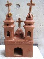 メキシコ 陶芸 民芸品 [素焼きの礼拝堂] フォークアート