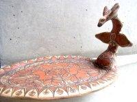 ゲレーロ 陶芸 プレート [シャリトラ 鳥の皿] フォークアート