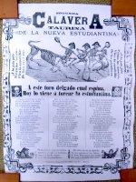 カラベラ ポサダ 版画 ポスター[新しい学生たち] 死者の日