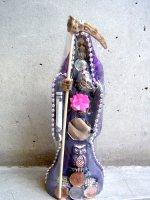 サンタ・ムエルテ 死神 像 フィギュア 人形 [パープル] ミドルサイズ