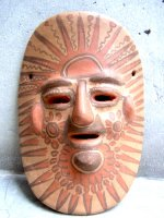 ゲレーロ 陶器 民芸品 [マスク 太陽] スーベニール
