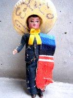 メキシコ ユニーク人形  [チャロ ]  スーベニール used