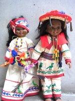 メキシコ 人形 インテリア [ウィチョール カップル] ビンテージ