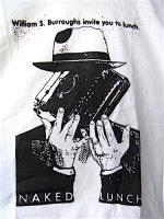 バロウズ Tシャツ [裸のランチ タイプライター] 白