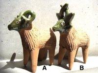オアハカ 陶器 チア人形  [ヒツジとシカ]  民芸品