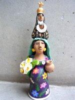 アギラールファミリー 陶人形  [妊婦と聖母ラ・ソレダー] オアハカ