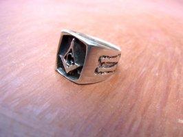 リング 指輪  [フリーメイソン コンパス ] シルバー
