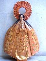 オアハカ 木彫人形  [聖母 ラ・ソレダー]  ビンテージ