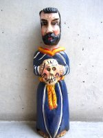 ゲレーロ 木彫人形 [聖人 サン・フランシスコ] フォークアート
