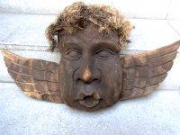 ゲレーロ 木彫オブジェ  [茶色い天使]  民芸品