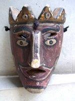 サカテカス ウッドマスク 木製の仮面  [聖サンティアゴ 赤ら顔]  ビンテージ
