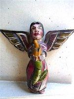 ゲレーロ 木彫人形 [とうもろこしを持つ天使] ビンテージ