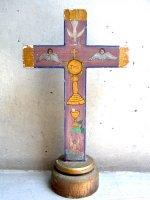 十字架 ウッドクロス [天使 JHS] ビンテージ