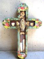 アートクロス 十字架  [ターコイズ グアダルーペ] 23cm