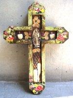 アートクロス 十字架  [アイボリー グアダルーペ] 23cm