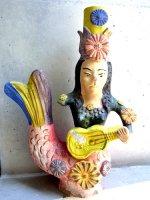 メテペック 陶器 燭台  [ラ・クランチャナ ギターを弾けない人魚]  ビンテージ