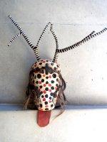 オアハカ ウッドマスク 木製の仮面  [水玉のシカ]
