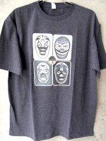 ルチャリブレ Tシャツ マスクマン [クアトロ・マスカラス]  ボディ4色