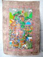 ゲレーロ アマテ 絵画 フォークアート [村の結婚式] ビンテージ