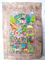 ゲレーロ アマテ 絵画 フォークアート [村の結婚式 その2] ビンテージ