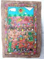 ゲレーロ アマテ 絵画 フォークアート [お祭り] ビンテージ