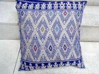チアパス 刺繍 クッションカバー [ブルー] ララインサール