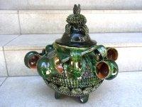 ミチョアカン 焼き物 陶器  [ピニャ プルケ ポット&カップ]  フォークアート