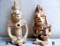 タスコ 焼き物 土人形 [ナワの戦士]  フォークアート
