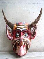 ゲレーロ ウッドマスク 木製の仮面  [ディアブロ ヤギ角]