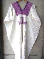 オアハカ 刺繍 ワンピース  [ピノテパ ロイヤルパープル] 貝紫染め