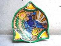 ゲレーロ 陶皿 アメヤルテペク  [クジャク] ビンテージ