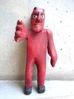 グアテマラ ウッドカービング 木彫り人形  [悪魔 ディアブロ] ビンテージ