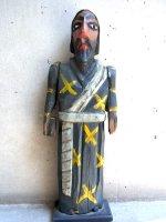 ウッドカービング 木彫り人形  [宣教師] ビンテージ