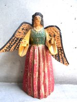 ウッドカービング 木彫り人形  [天使 ガブリエル] ビンテージ