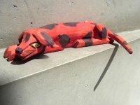 ウッドカービング 木彫り人形  [赤い犬 マヌエル・ヒメネス] ビンテージ