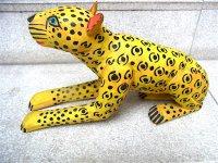 ウッドカービング 木彫り人形  [ジャガー マヌエル・ヒメネス] ビンテージ