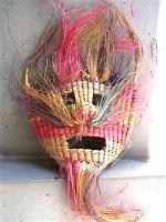 タスコ フォークアート 民芸品 [シュロの葉の仮面 ] ビンテージ