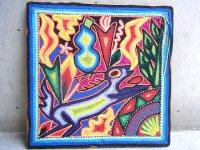 ウィチョール ネアリカ 羊毛絵 [青い鹿] ビンテージ