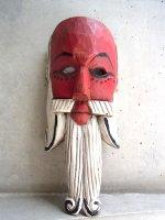 ウッドマスク 木製の仮面  [赤顔の老人]