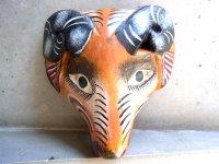 ウッドマスク 木製の仮面  [ヒツジ]  フォークアート