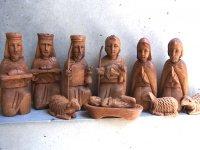 ウッドカービング 木彫り人形  [キリスト降誕 ナシミエント]
