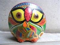 ゲレーロ アメヤルテペク 陶人形 [フクロウ] ビンテージ