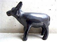 オアハカ 黒陶 バロネグロ  [ロバ] 復刻品
