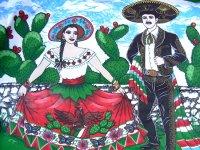 メキシコ独立記念日 ファブリック 生地 [チャロとチナポブラナ] リメイク