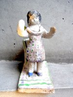 陶器 キャンドルホルダー  [エロン・マルチネス 天使]  ビンテージ