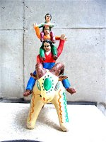 陶人形  [カスティージョファミリー 羊と家族]  ビンテージ