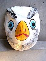 パペル・マチェ 張り子のお面 マスク [ワシ]  フォークアート