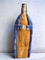 ニューメキシコ ウッドカービング 木彫り人形  [聖人 ] ビンテージ